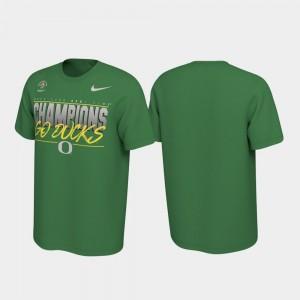 Oregon Ducks T-Shirt Green Locker Room For Men's 2020 Rose Bowl Champions