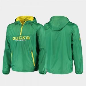 Oregon Ducks Jacket Base Runner Men's Half-Zip Green