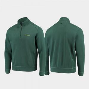 Oregon Ducks Jacket For Men College Sport Nassau Green Half-Zip Pullover Tommy Bahama