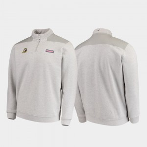 Oregon Ducks Jacket For Men's Quarter-Zip Shep Shirt Heathered Gray