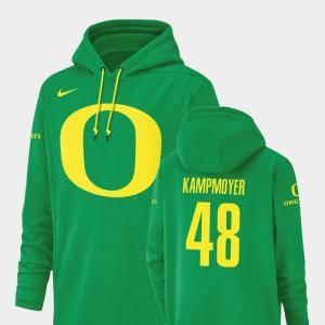 Oregon Ducks Hunter Kampmoyer Hoodie Champ Drive Men #48 Football Performance Green