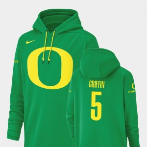 Oregon Ducks Taj Griffin Hoodie Champ Drive Football Performance Men's Green #5