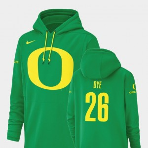 Oregon Ducks Travis Dye Hoodie #26 Mens Green Champ Drive Football Performance