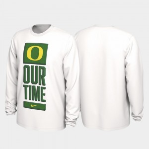 Oregon Ducks T-Shirt White For Men 2020 March Madness Our Time Bench Legend