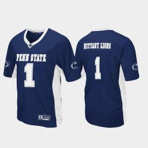 Penn State Nittany Lions Jersey Men's Navy #1 Max Power Football