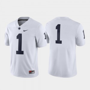Penn State Nittany Lions Jersey #1 Men White Game