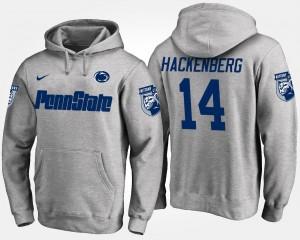 Penn State Nittany Lions Christian Hackenberg Hoodie #14 Gray Men