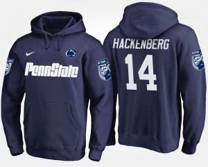 Penn State Nittany Lions Christian Hackenberg Hoodie For Men Navy #14