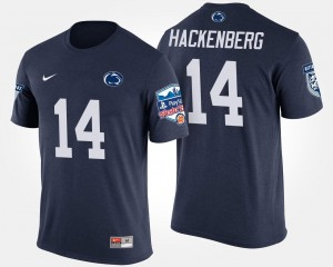 Penn State Nittany Lions Christian Hackenberg T-Shirt Fiesta Bowl #14 Navy Bowl Game For Men