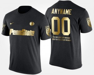 Penn State Nittany Lions Custom T-Shirts Gold Limited Black For Men Short Sleeve With Message #00