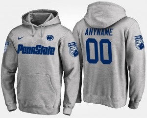 Penn State Nittany Lions Customized Hoodies Gray Men's #00