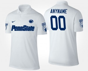 Penn State Nittany Lions Customized Polo White Mens #00