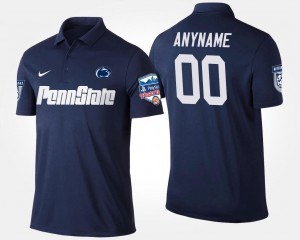 Penn State Nittany Lions Customized Polo Navy Fiesta Bowl #00 Bowl Game For Men's