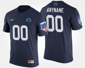Penn State Nittany Lions Customized T-Shirts Fiesta Bowl Bowl Game For Men #00 Navy