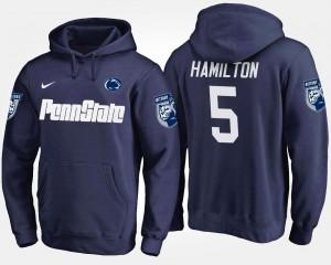 Penn State Nittany Lions DaeSean Hamilton Hoodie Navy #5 Men's