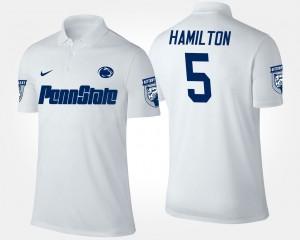 Penn State Nittany Lions DaeSean Hamilton Polo #5 White Mens