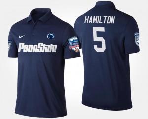 Penn State Nittany Lions DaeSean Hamilton Polo Fiesta Bowl Men Navy #5 Bowl Game