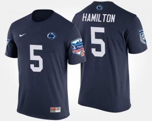 Penn State Nittany Lions DaeSean Hamilton T-Shirt Bowl Game Navy Fiesta Bowl Mens #5
