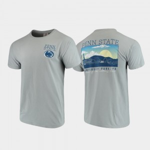 Penn State Nittany Lions T-Shirt Gray For Men's Campus Scenery Comfort Colors