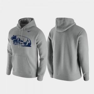 Penn State Nittany Lions Hoodie Club Fleece Vintage Logo Men Heathered Gray