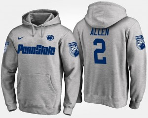 Penn State Nittany Lions Marcus Allen Hoodie #2 Mens Gray