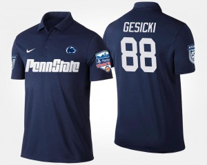Penn State Nittany Lions Mike Gesicki Polo Bowl Game #88 Fiesta Bowl Navy Men's
