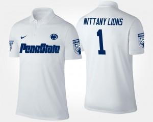 Penn State Nittany Lions Polo No.1 Short Sleeve For Men's #1 White