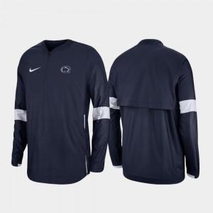 Penn State Nittany Lions Jacket Navy Quarter-Zip Men 2019 Coaches Sideline
