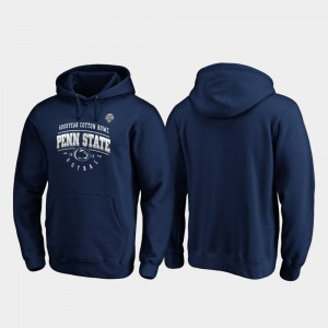 Penn State Nittany Lions Hoodie Mens Tackle 2019 Cotton Bowl Bound Navy