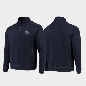 Penn State Nittany Lions Jacket College Sport Nassau Men Half-Zip Pullover Tommy Bahama Navy