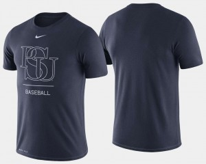 Penn State Nittany Lions T-Shirt For Men College Baseball Dugout Performance Navy