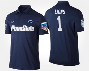 Penn State Nittany Lions Polo Mens Bowl Game No.1 Fiesta Bowl #1 Navy