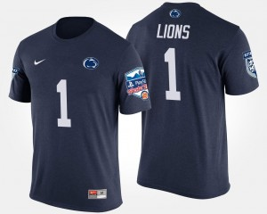 Penn State Nittany Lions T-Shirt Navy #1 No.1 Fiesta Bowl Bowl Game Men's