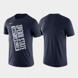 Penn State Nittany Lions T-Shirt Just Do It Mens Basketball Performance Navy