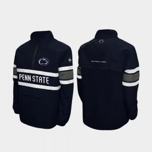 Penn State Nittany Lions Jacket Alpha Windshell Pullover Navy Men's Quarter-Zip