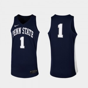 Penn State Nittany Lions Jersey Replica For Men's Navy #1 College Basketball