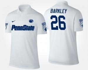 Penn State Nittany Lions Saquon Barkley Polo #26 White Mens