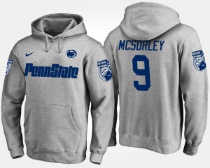 Penn State Nittany Lions Trace McSorley Hoodie #9 For Men's Gray