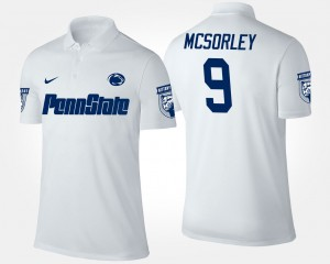 Penn State Nittany Lions Trace McSorley Polo White For Men's #9