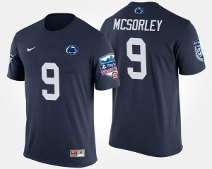 Penn State Nittany Lions Trace McSorley T-Shirt Bowl Game #9 Fiesta Bowl Navy For Men's