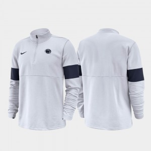 Penn State Nittany Lions Jacket For Men's Half-Zip Performance White 2019 Coaches Sideline