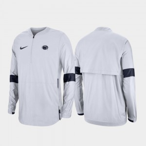 Penn State Nittany Lions Jacket White 2019 Coaches Sideline Quarter-Zip Men's