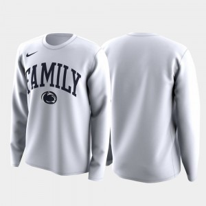 Penn State Nittany Lions T-Shirt Family on Court White March Madness Legend Basketball Long Sleeve Mens