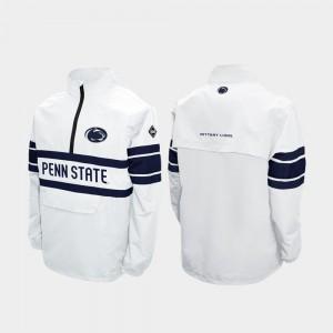 Penn State Nittany Lions Jacket White Alpha Windshell Pullover Quarter-Zip For Men's