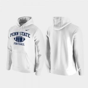 Penn State Nittany Lions Hoodie Club Fleece White For Men Retro Football
