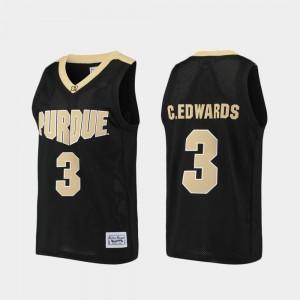 Purdue Boilermakers Carsen Edwards Jersey For Men Alumni Purdue Boilermaker Basketball Black #3