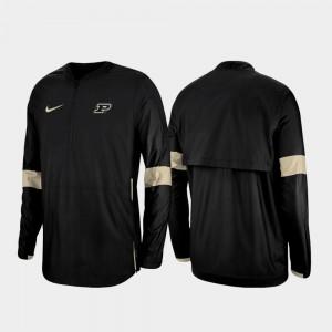 Purdue Boilermakers Jacket 2019 Coaches Sideline Quarter-Zip Black For Men