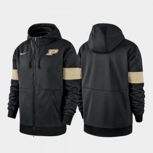 Purdue Boilermakers Hoodie 2019 Sideline Therma-FIT For Men Performance Full-Zip Black