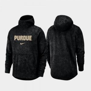 Purdue Boilermakers Hoodie For Men's Basketball Team Logo Pullover Spotlight Black