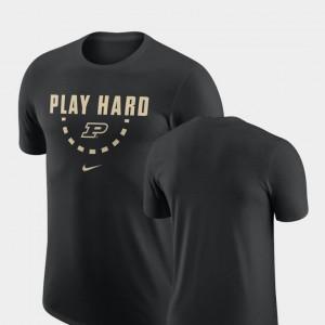Purdue Boilermakers T-Shirt Mens Black Basketball Team